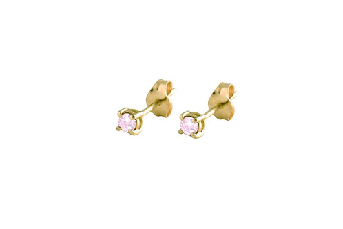 Only pink tourmaline earrings 18kt gold