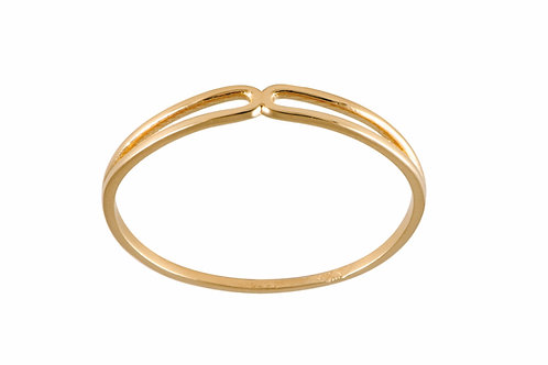 Serpentine ring 3 gold plated 925 silver