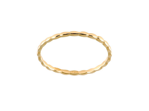 Navette ring S gold plated 925 silver