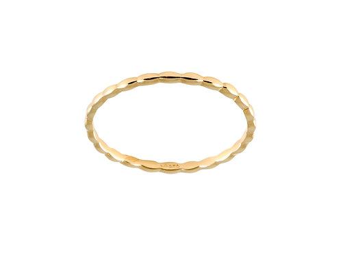 Navette small ring 18k gold