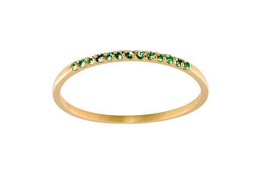 Tsavorites Pavé 18k gold ring