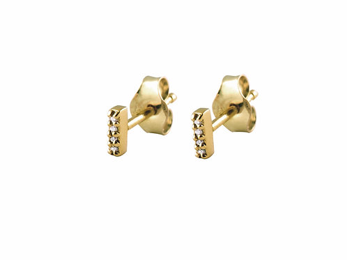 Twig 18k gold earrings