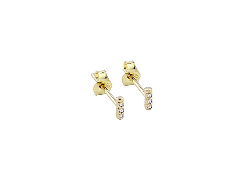 Unity earrings diamonds 18kt gold - Boucles d'oreilles Unity diamants or 18ct