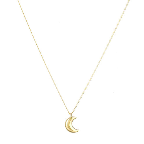 Lune necklace 18kt gold - Collier Lune or 18ct