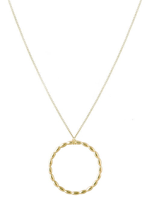 Navette necklace L gold plated 925 silver