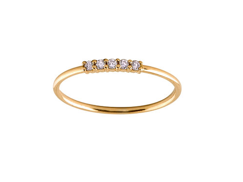 Five diamonds ring S 18k gold