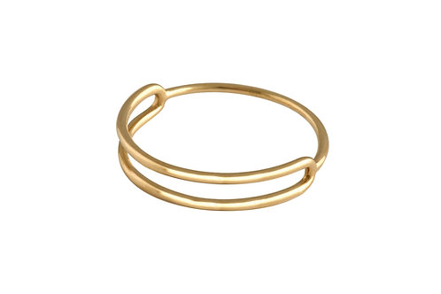 Cartouche ring gold plated 925 silver