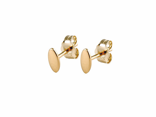 Navette earrings gold plated 925 silver