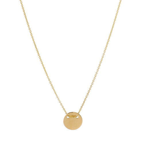 Round necklace S gold plated 925 silver - Collier Rond S argent doré