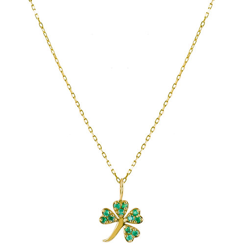 Emeralds Lucky 18k gold necklace