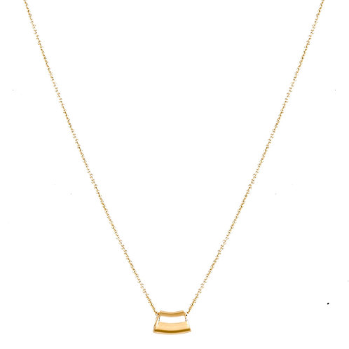 Wave necklace S 18k gold