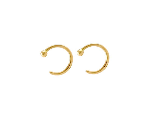 Ring mini hoop earrings gold plated 925 silver
