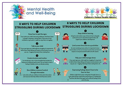 Mental Health and Wellbeing in Lockdown.