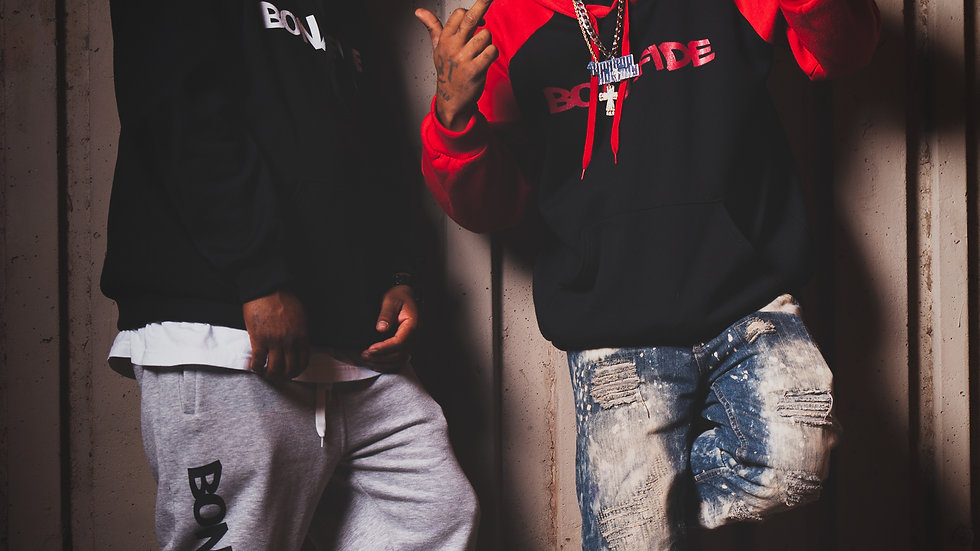 Bonafide Red & Black 2-Tone Hoodies