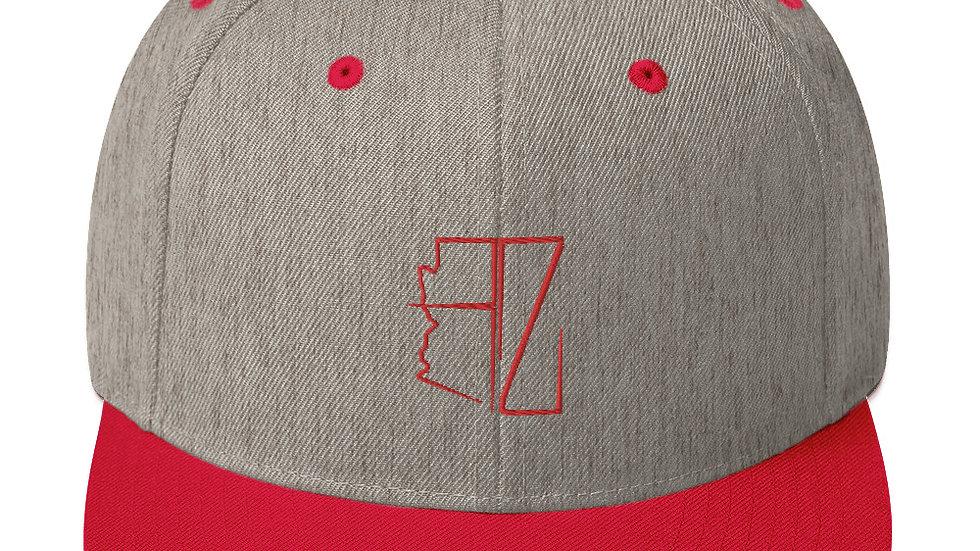 Red AZ 2-Tone Snapback's