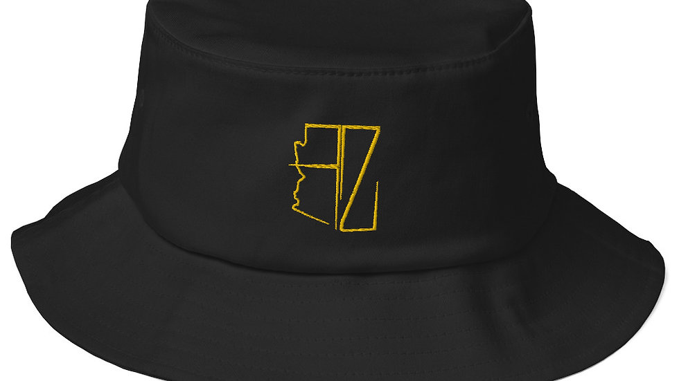 Old School AZ Embroidered Bucket Hats