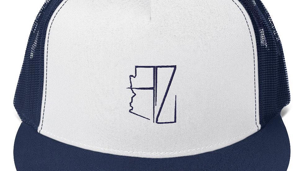 Navy Blue AZ Trucker Hat's