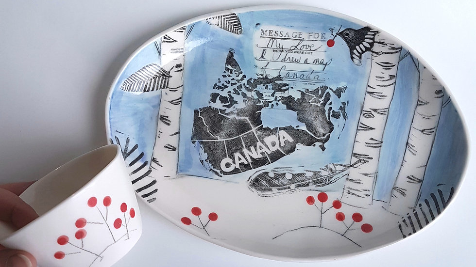 Ode to Joni (Map of Canada) Platter Set