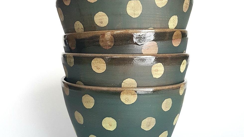 Forage Bowl: Forest Polka Dot