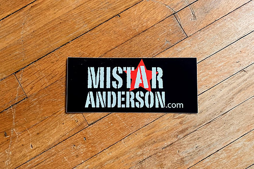 Mistar Anderson Sticker