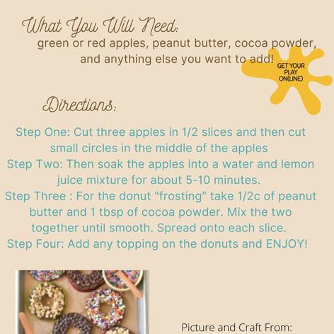 No-Bake Apple Donuts