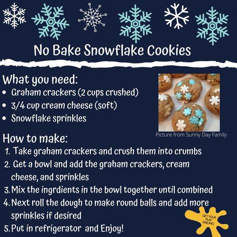 No-Bake Snowflake Cookies