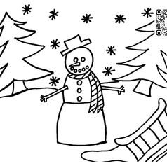Snowman Scene