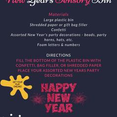New Years Sensory Bin