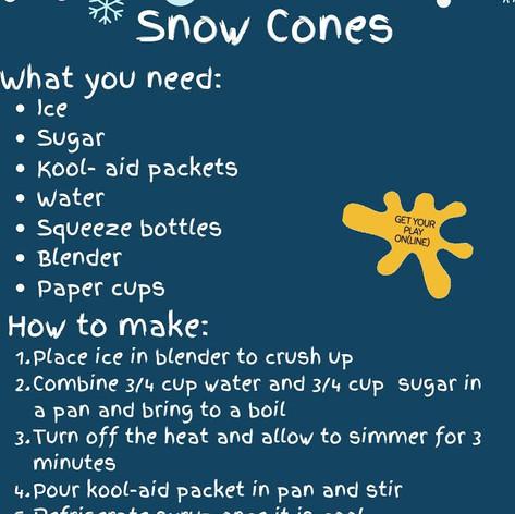 DIY Snow Cones