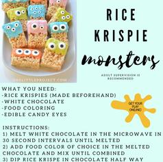 Rice Krispie Monsters