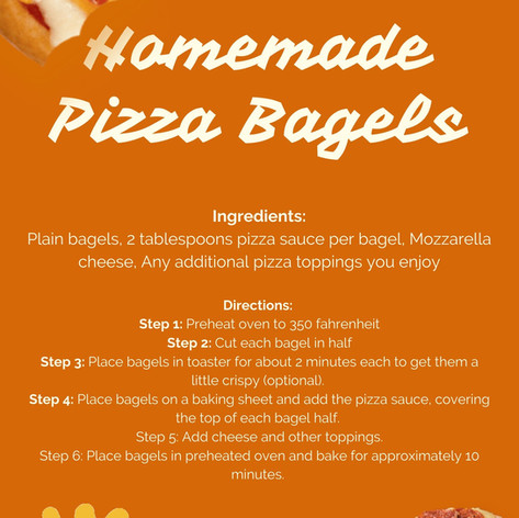 Homemade Pizza Bagels