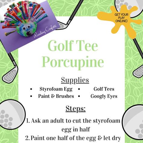 Golf Tee Porcupine