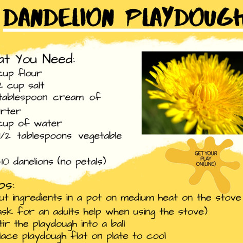 Dandelion Playdoh