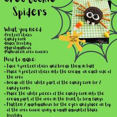 Oreo Cookie Spiders
