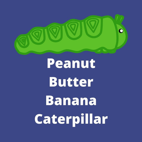 Peanut Butter Banana Caterpillars