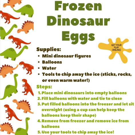 Frozen Dinosaur Eggs