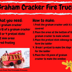 Graham Cracker Fire Truck