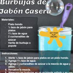 Burbujas de Jabon Casera