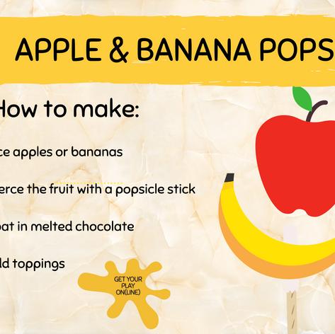 Apple & Banana Pops