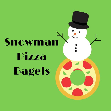 Snowman Pizza Bagels