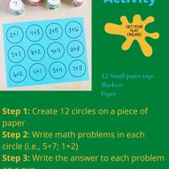 Math Facts Activity
