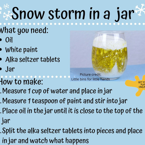Snow Storm in a Jar
