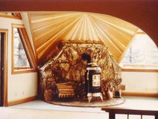 Redwood wallburst (Geo dome house)