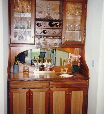 Nautical stye wet bar