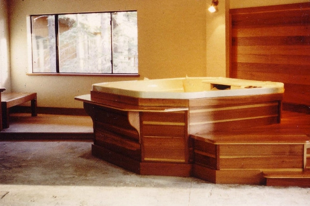 Redwood indoor spa