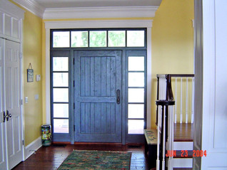 Northern White Cedar Entry door and sidelites with Restoration Glass
