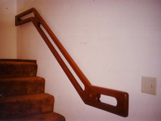 Custom Redwood handrail
