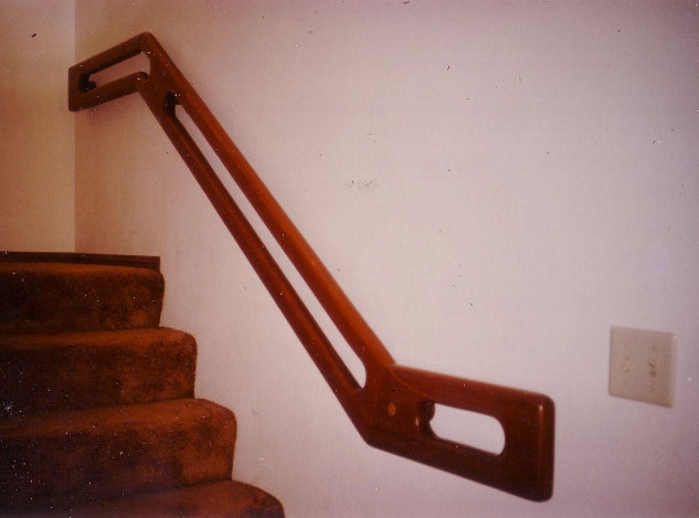 Custom Redwood handrail