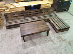 Charcoal Outdoor Pallet Setting