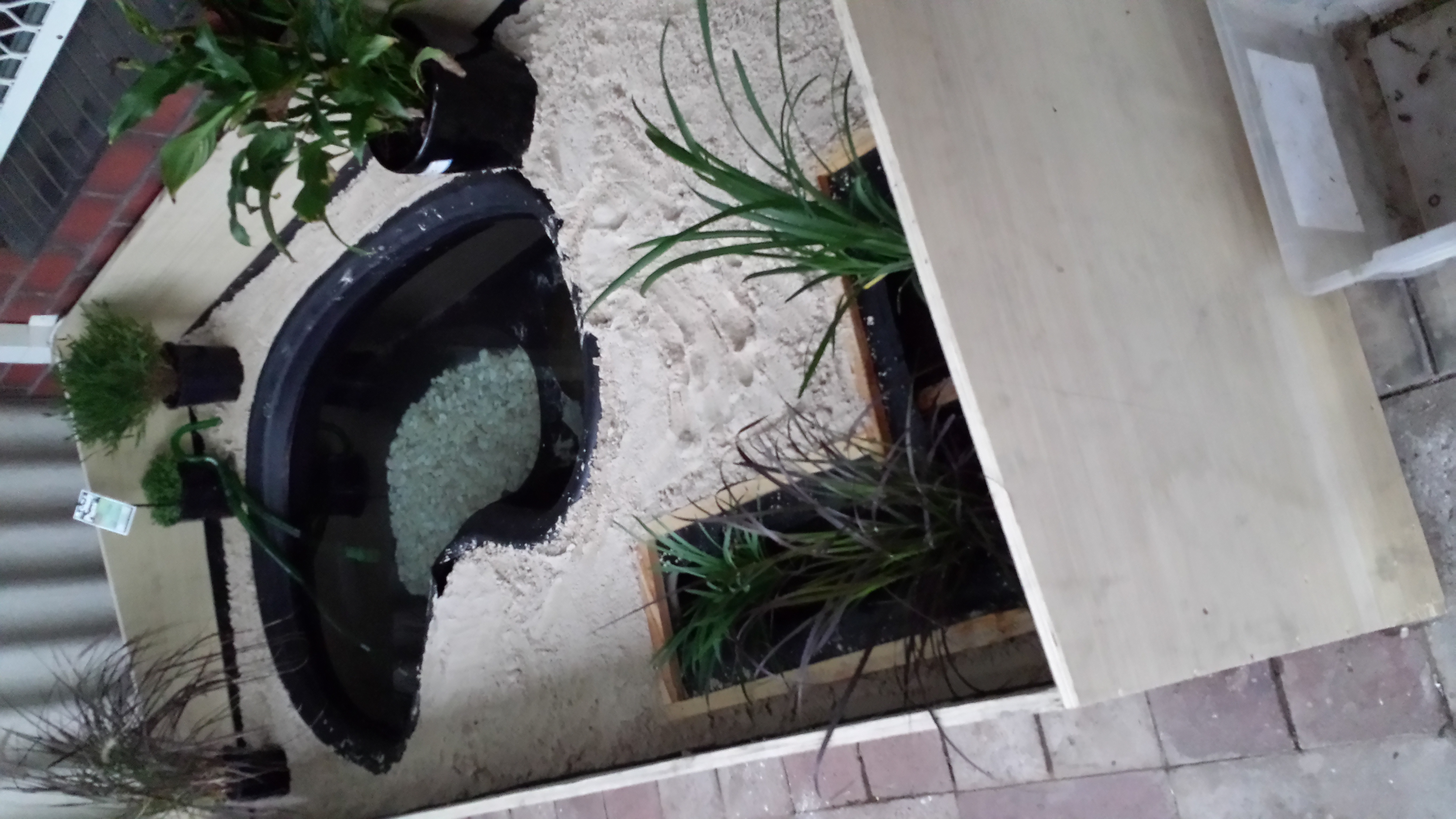 Recycled Fish Pond Turtle Enclosure